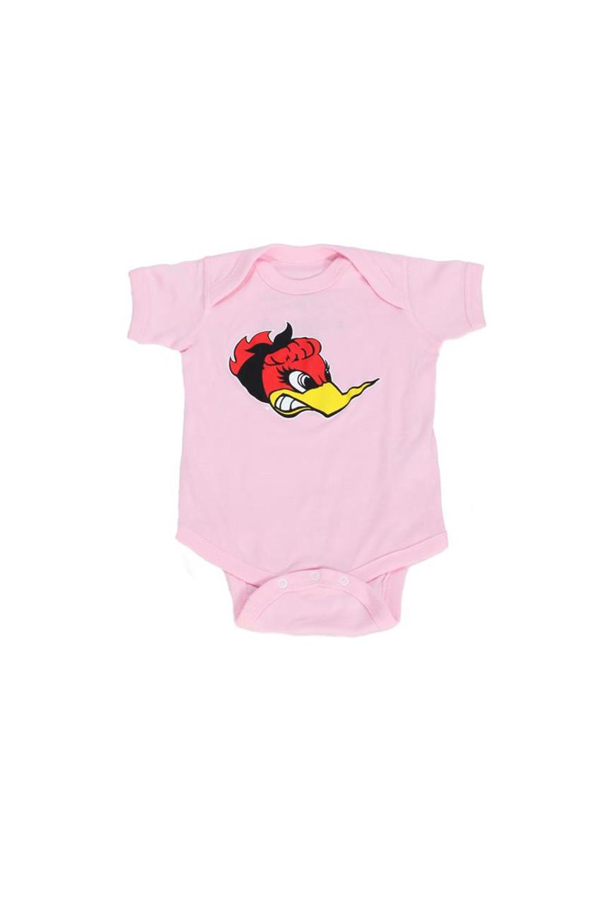 "Baby Romper  ""Little Miss Horsepower"" Pink"