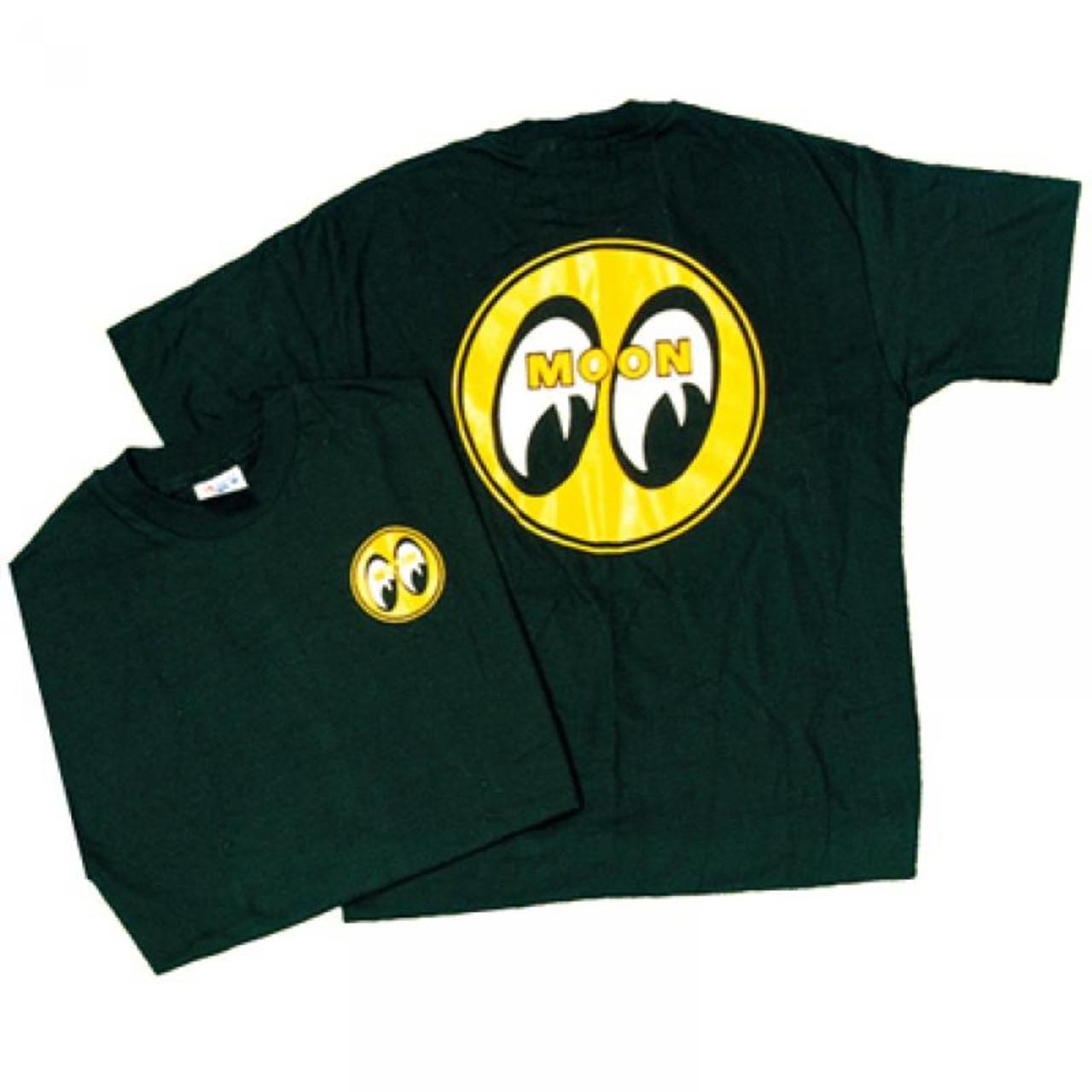 Mooneyes T-Shirt - Black - Small Logo Front/Big Logo Back