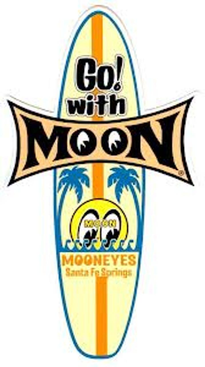Moon Surf Board Sticker