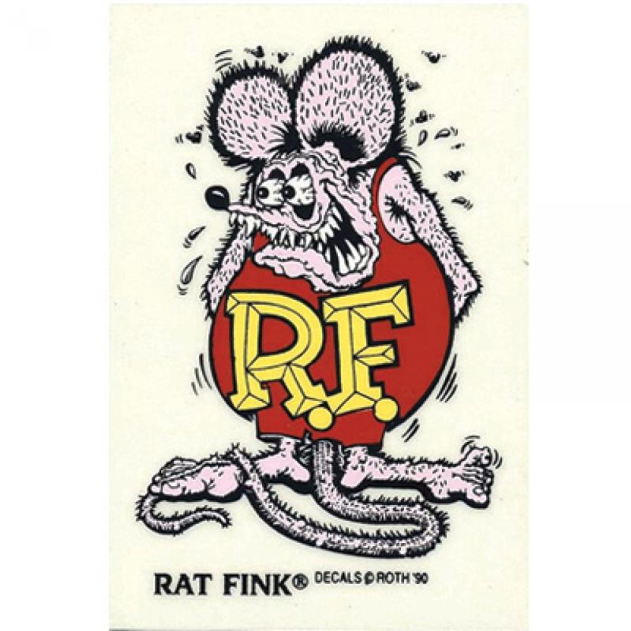 Rat Fink Sticker - Large - Purple