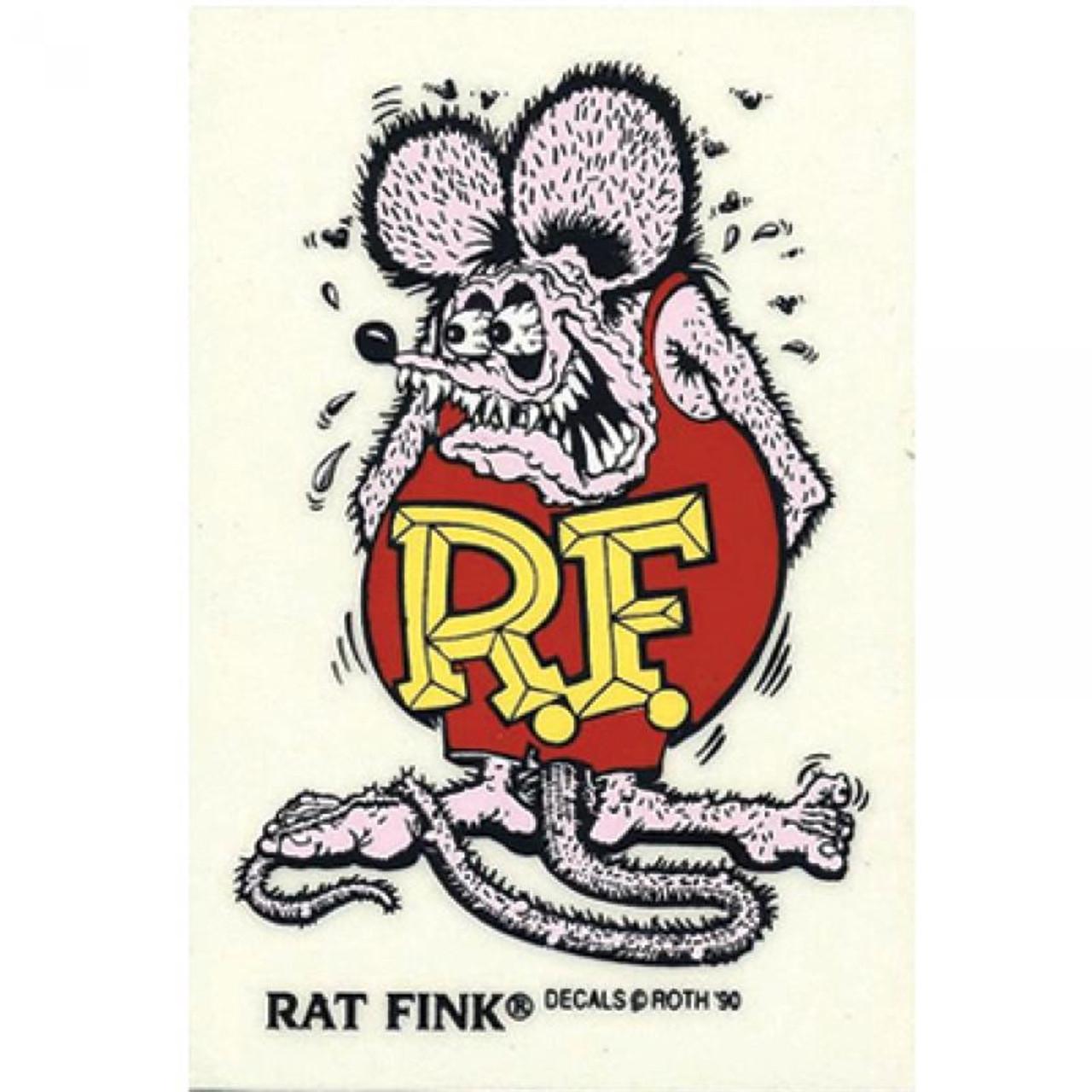 Rat Fink Sticker - Large - Purple