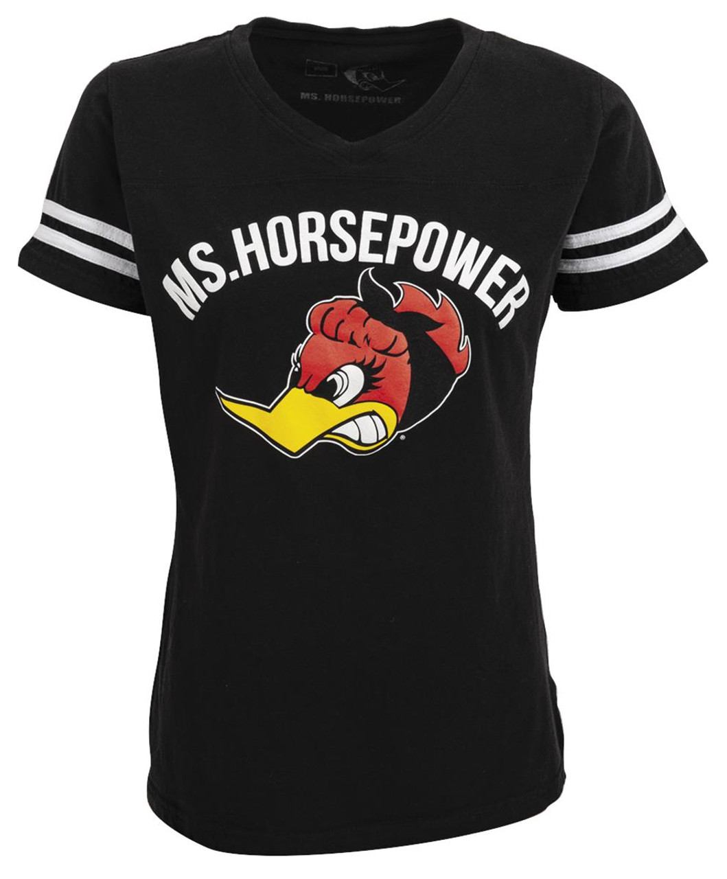 Ladies Ms. Horsepower - Game or Race Day Black T-Shirt