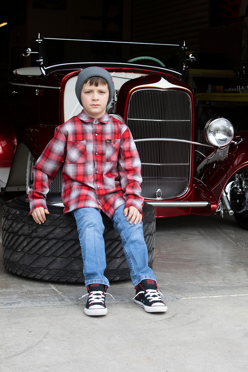"""Dixxon / Clay Smith Cams Kids Flannel """" 90 Years"""""""