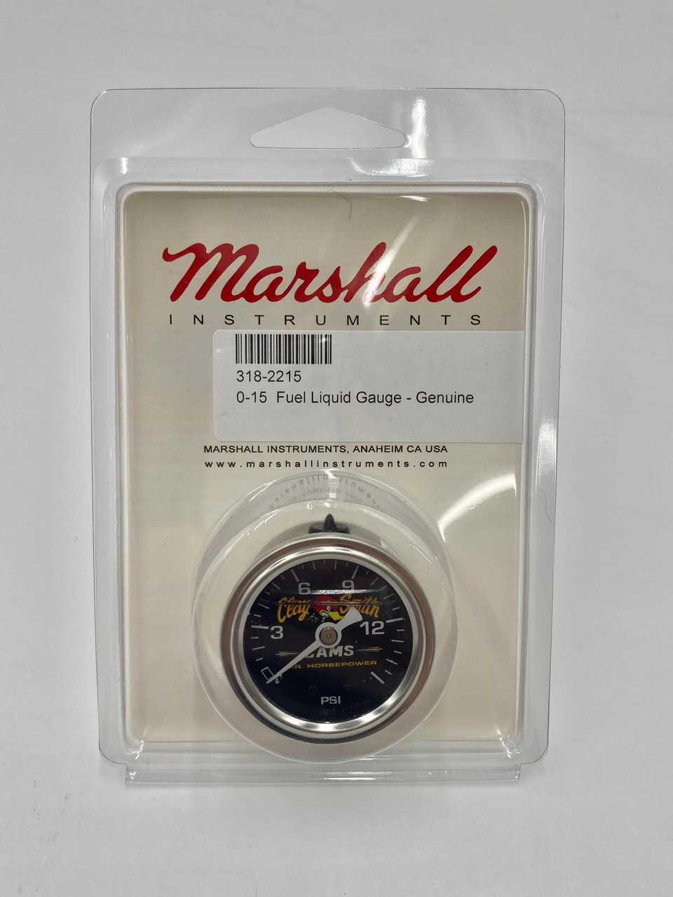 Mr. Horsepower / Marshall Genuine Liquid Filled 0-15 PSI