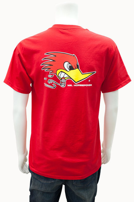 Mr. Horsepower Red Traditional Design T-Shirt