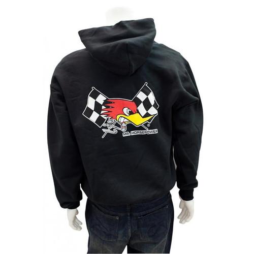 Mr. Horsepower Checkered Flag Black Hoodie