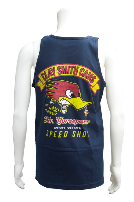 """Men's """"Support Your Local Speed Shop"""" Tank Top Navy"""