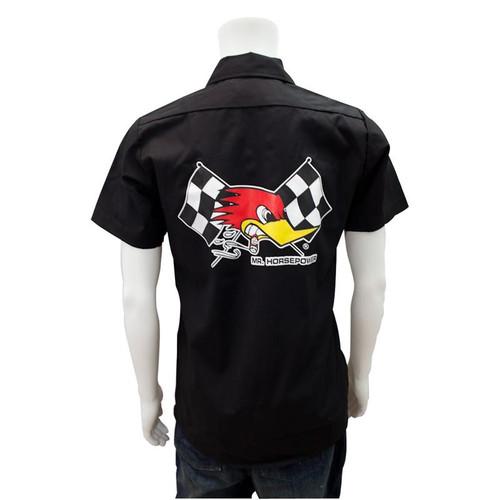 Mr. Horsepower Black Checkered Flag Work Shirt