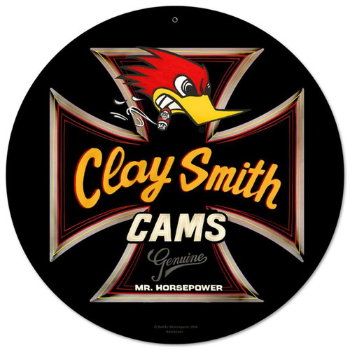 Genuine Clay Smith Round Black Sign