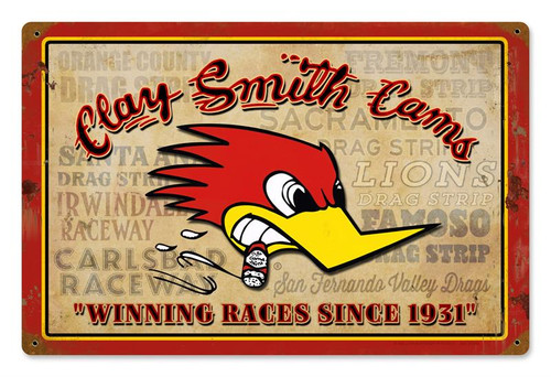 Clay Smith Cams - Winning Races Sign