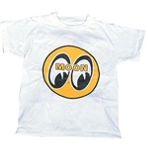 Youth Moon T-Shirt-White w/Yellow Mooneyes