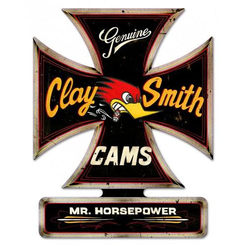 "Clay Smith Black Iron Cross Sign - 18 1/2"" x 14 1/2"""