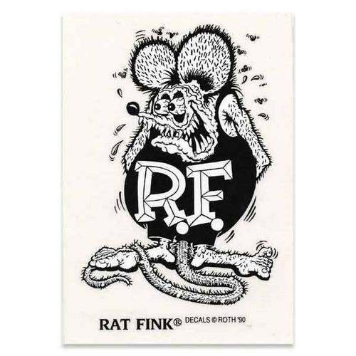 Rat Fink Sticker - Large - Black & White