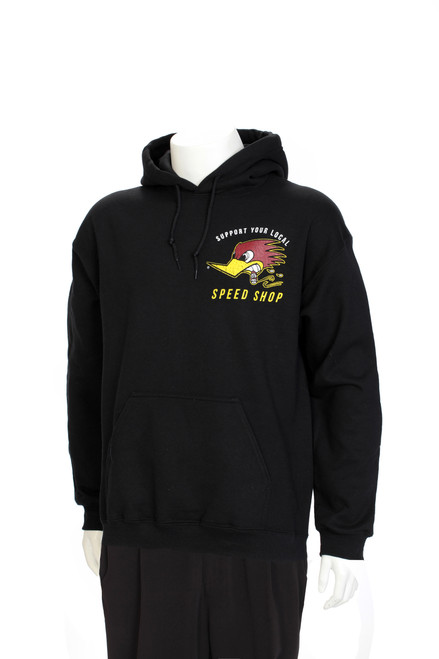 Sweatshirt - Hooded Support Your Local Speed Shop-Black