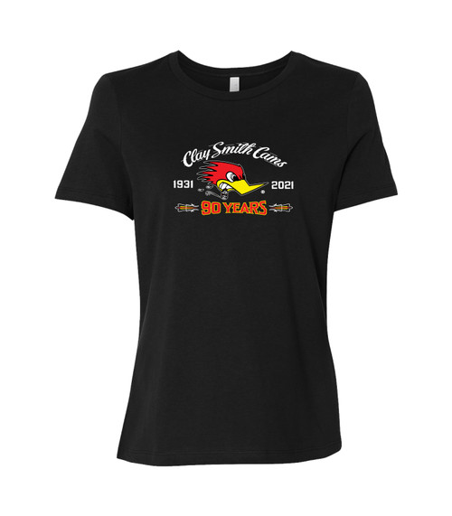 Ladies 90 years of American Horsepower Black T-Shirt