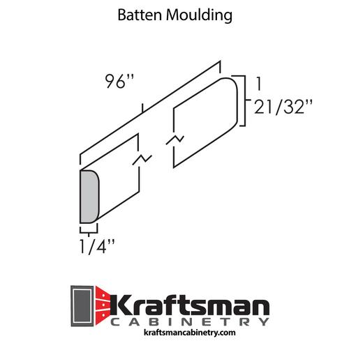 Batten Moulding Summit White Shaker Kraftsman Cabinetry