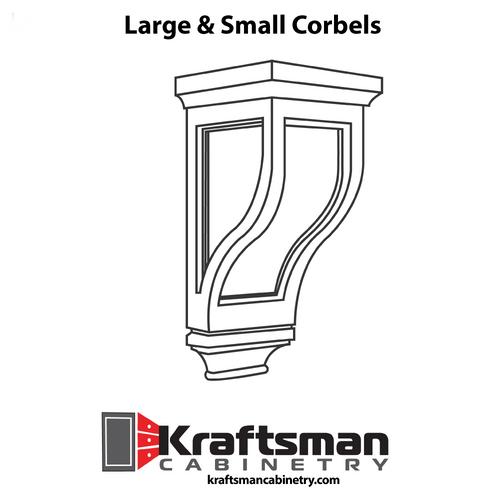 Corbel Summit White Shaker Kraftsman Cabinetry