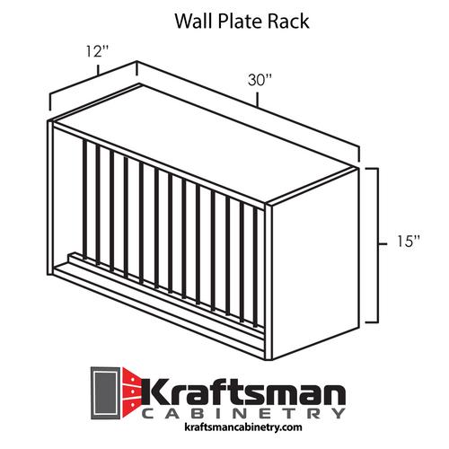 Wall Plate Rack Summit White Shaker Kraftsman Cabinetry
