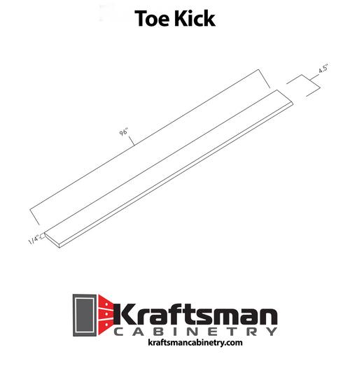 Toe Kick Summit White Shaker Kraftsman Cabinetry