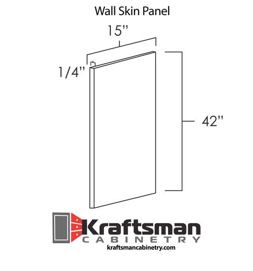 Wall Skin Panel Summit White Shaker Kraftsman Cabinetry