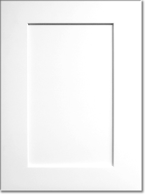 Summit White Shaker Kraftsman Cabinetry Display Door