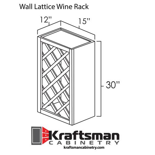 Wall Lattice Wine Rack Aspen White Kraftsman Cabinetry