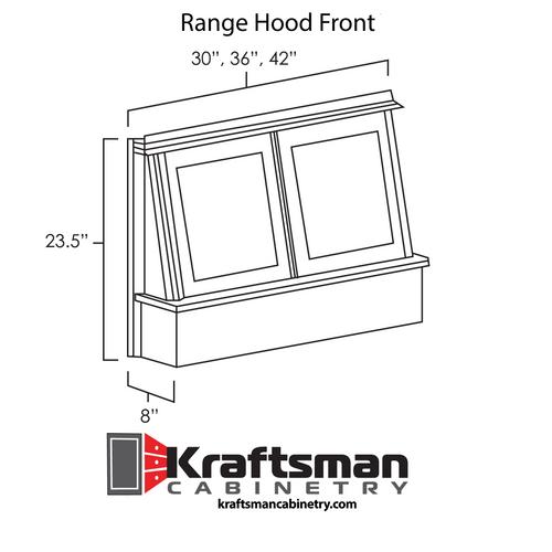 Range Hood Front Aspen White Kraftsman Cabinetry