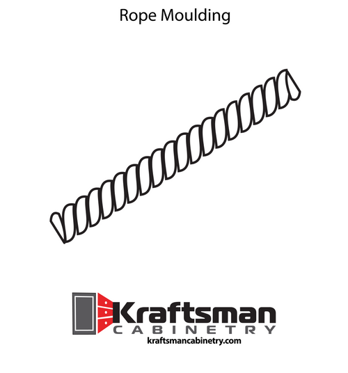 Rope Moulding Aspen White Kraftsman Cabinetry