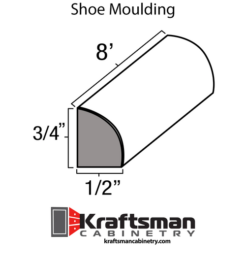 Shoe Moulding Aspen White Kraftsman Cabinetry