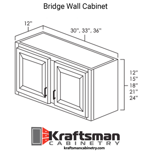Bridge Wall Cabinet Aspen White Kraftsman Cabinetry