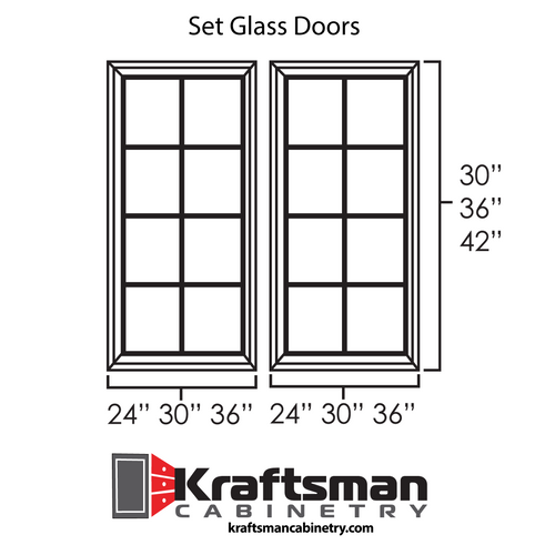 Set Glass Doors for West Point Grey Kraftsman Cabinetry