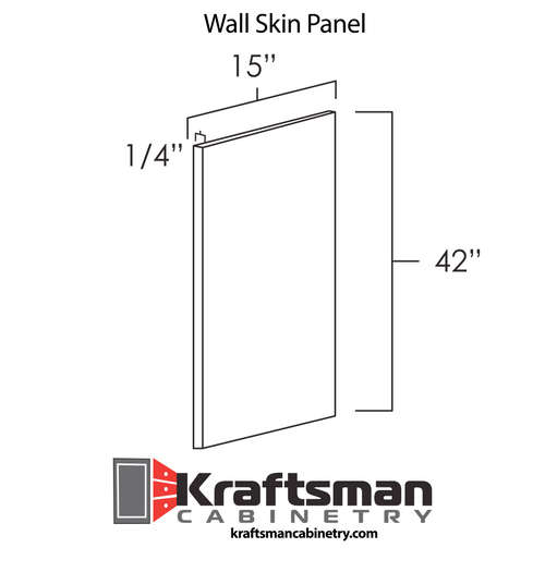 Wall Skin Panel West Point Grey Kraftsman Cabinetry