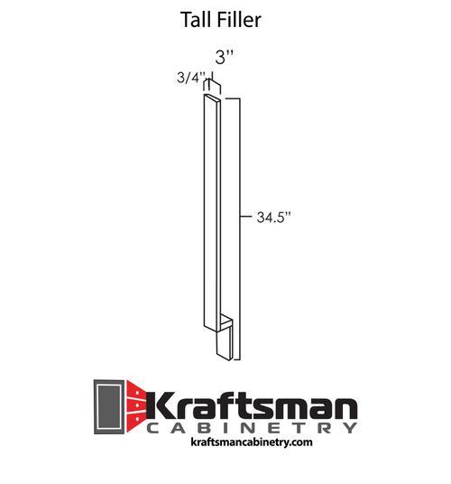 Tall Filler Hickory Shaker Kraftsman Cabinetry