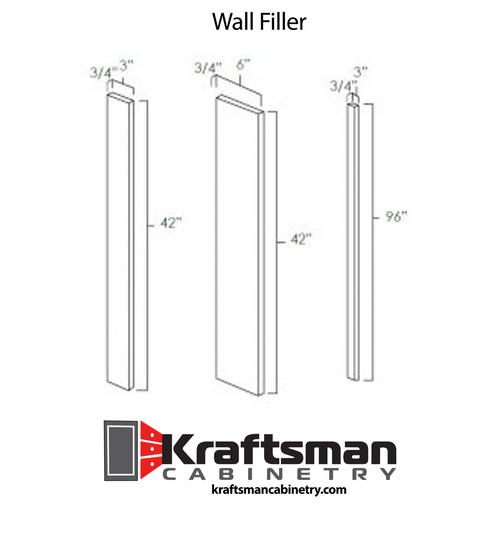 Wall Filler Hickory Shaker Kraftsman Cabinetry