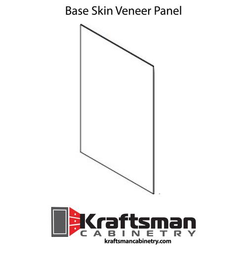 Base Skin Veneer Panel Java Shaker Kraftsman Cabinetry