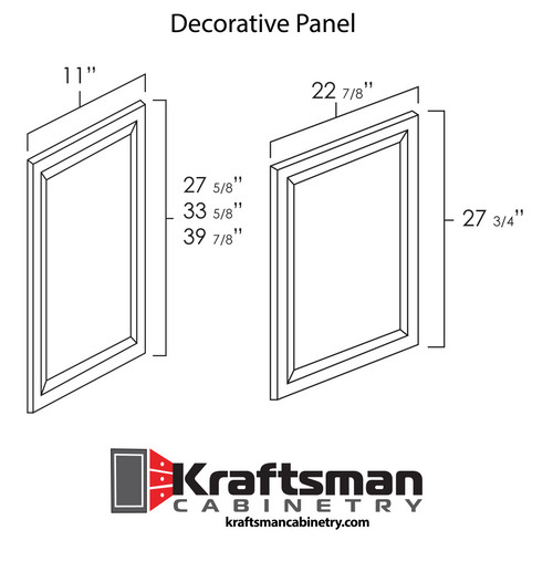 Decorative Panel Java Shaker Kraftsman Cabinetry