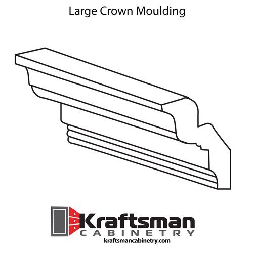 Large Crown Moulding Java Shaker Kraftsman Cabinetry
