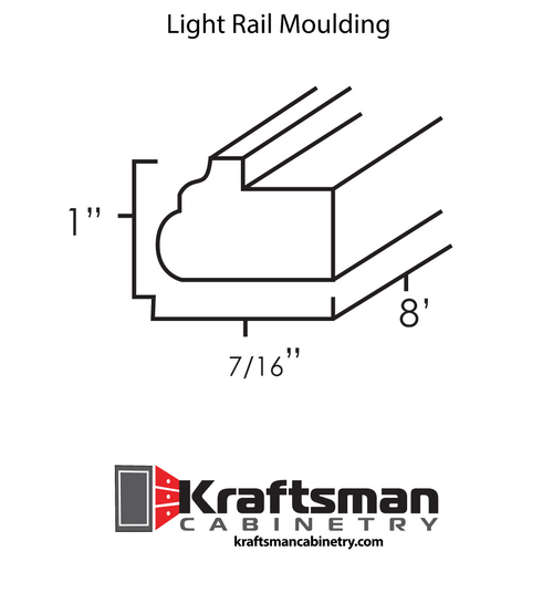 Light Rail Moulding Java Shaker Kraftsman Cabinetry