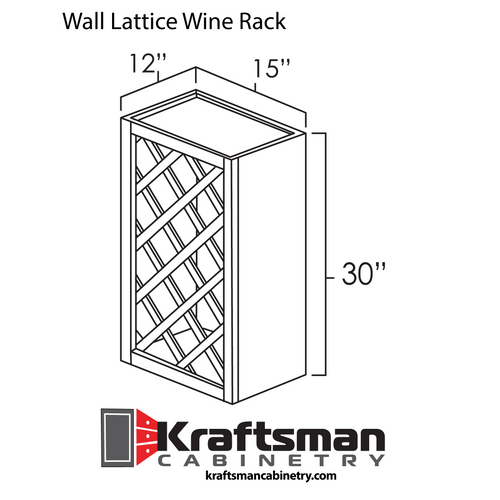 Wall Lattice Wine Rack Java Shaker Kraftsman Cabinetry