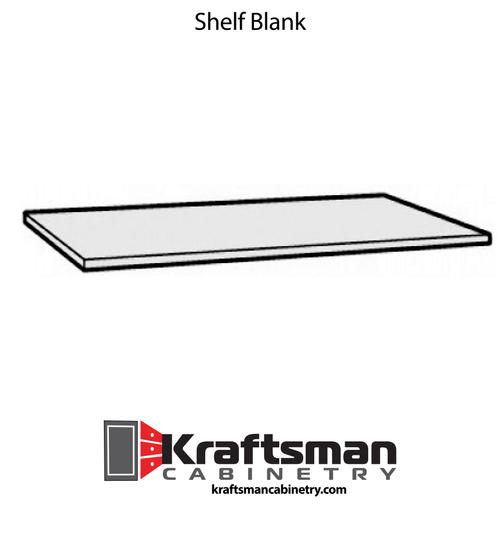Shelf Blank Java Shaker Kraftsman Cabinetry