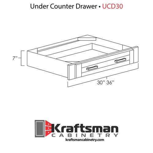 Under Counter Drawer Java Shaker Kraftsman Cabinetry