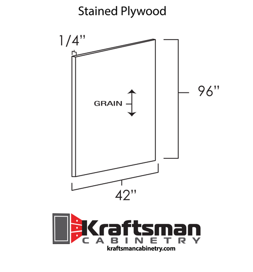 Stained Plywood Java Shaker Kraftsman Cabinetry