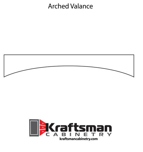Arched Valance Java Shaker Kraftsman Cabinetry