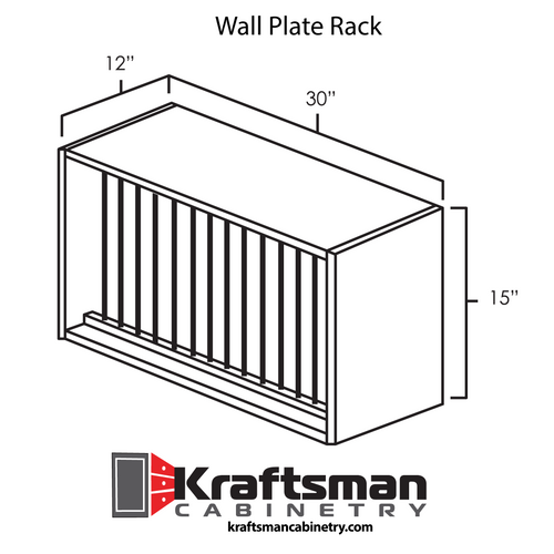 Wall Plate Rack Winchester Grey Kraftsman Cabinetry