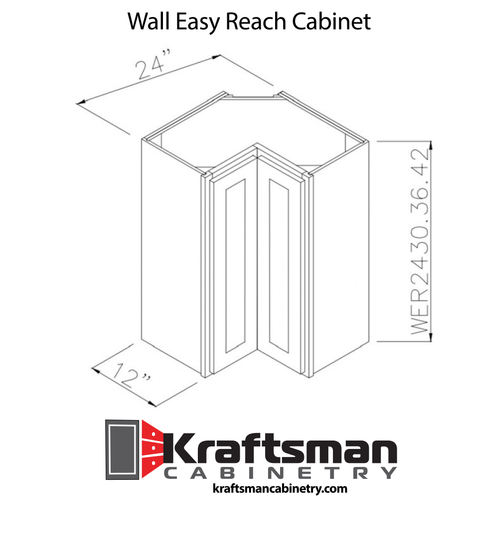 Wall Easy Reach Cabinet Summit White Shaker Kraftsman Cabinetry