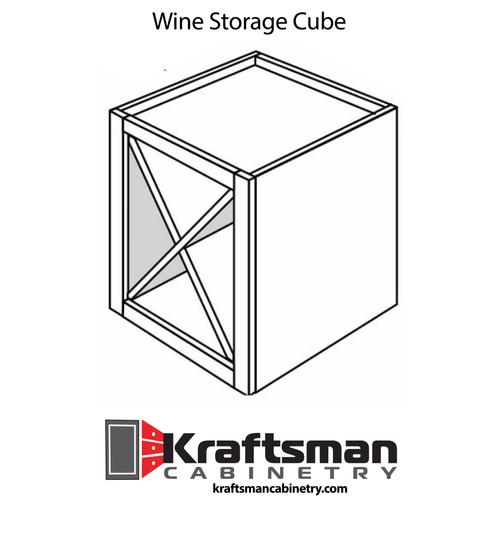 Wine Storage Cube Summit White Shaker Kraftsman Cabinetry