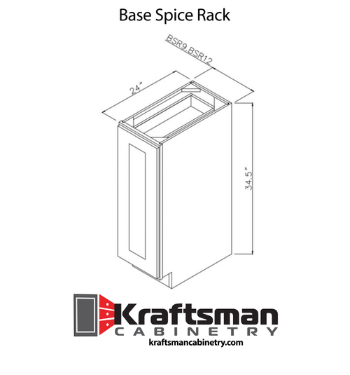 Base Spice Rack West Point Grey Kraftsman Cabinetry