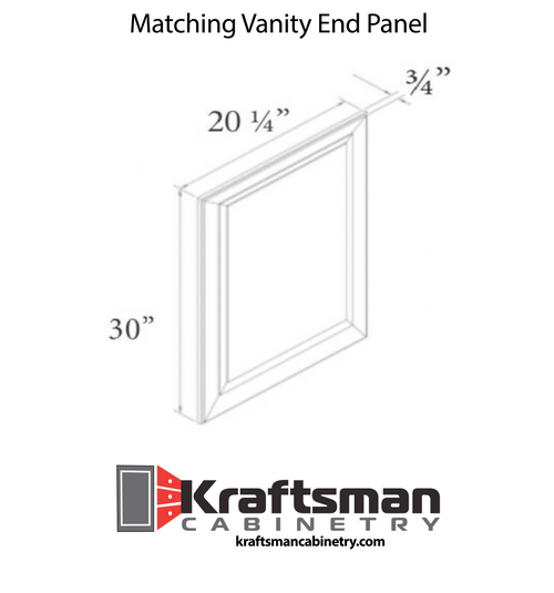 Matching Vanity End Panel West Point Grey Kraftsman Cabinetry