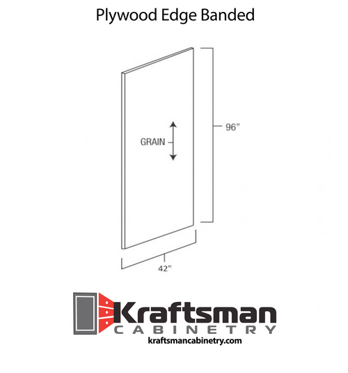 Plywood Edge Banded West Point Grey Kraftsman Cabinetry