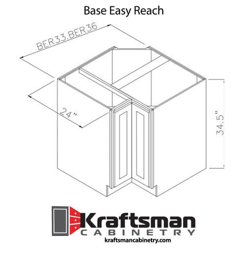 Base Easy Reach Summit Platinum Shaker Kraftsman Cabinetry